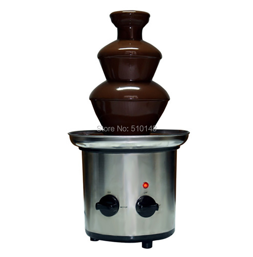 PKFK-3T Electirc 3 tier chocolate fountain machine for buffet and party Fruit String Machine image