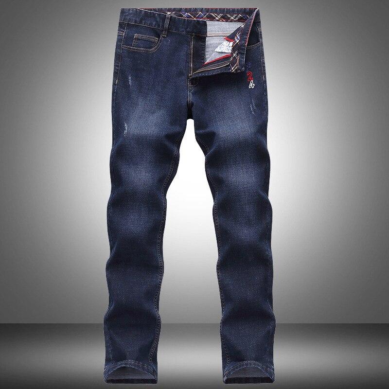2020 Shark Brand New Fashion Business Solid Thin Casual Pants Slim Elastic Zipper Mens Classic Straight Denim Male Long Trousers