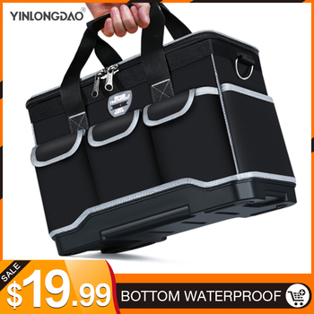 цена на Multifunction Tool Bags Size 13 1618 20 Oxford Cloth Bag Top Wide Mouth Electrician Special Tool Kit Bags Waterproof Toolkit