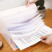 Yisuremia  Waterproof 8/12 Layers A4 Expanding File Folder Organizer Bag Briefcase Free Index Label School Office Stationery