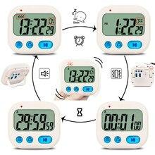 Txl max 30 horas temporizador de contagem regressiva, vibrar lembrete ou som crescendo despertador, cronômetro, mini bolso relógios estudante