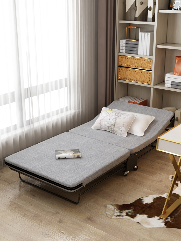 Folding Bed Single-bed Office Lunch Bed Bed Simple Bed Hospital Care Bed Portable Military Bed Economy.