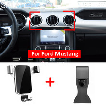 Mobile Phone Holder For Ford Mustang 2015 2016 2017 2018 Air Vent Mount Bracket GPS Phone Holder Clip Stand in Car For Iphone