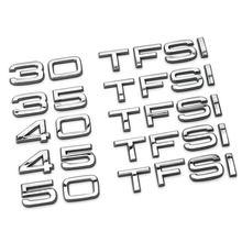 Badge de remontage en alliage de Zinc, autocollant 3D FSI TFSI quattro, marque de capacité de décharge pour Audi, bricolage, 30 35 40 45 50 55