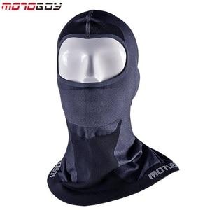 Image 1 - MOTOBOY Balaclava Masker Motorfiets Gezicht Schild Winddicht Fietsen Bike Ski Neck Beschermen Outdoor Moto Volgelaatsmasker