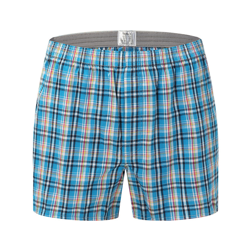 Plus Size Mens Underwear Boxers Loose Stripe And Plaid Shorts Men's Panties Cotton Arrow Pants At Home Underwear Men
