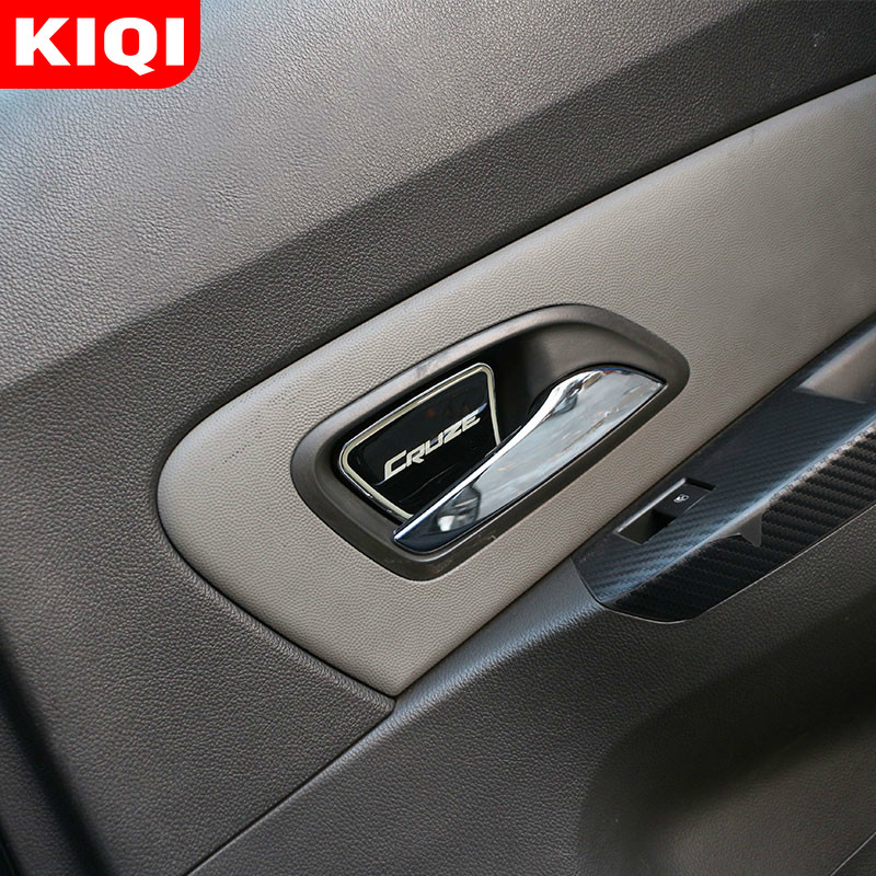 4Pcs/Set Car Inside Door Bowl Cover Trim Stickers Fit for <font><b>Chevrolet</b></font> <font><b>Cruze</b></font> Sedan Hatchback <font><b>2009</b></font> - <font><b>2014</b></font> Accessories image