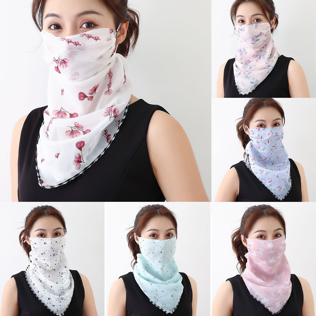 Neck Neck Mask Sunscreen Scarf Women's Cycling Sunscreen Mask 1PCS Print Scarf Dustproof Neck Scarf Masks Masque Mask Y409