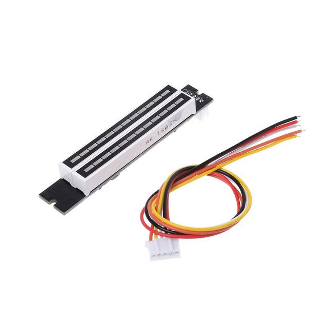 Mini Dual 12 bit Music Level Indicator Adjustable Light Speed VU Meter Stereo Amplifier Board With AGC Mode