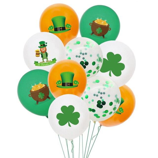 20PCS/pack St. Patrick's Day Ballons Decoration Irish Holiday Decor Saint Patrick Balloon Party Balon 1