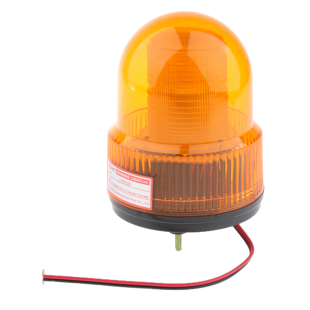 12V LED Strobe Stroboscopic Light Round Signal Beacon Flash Lamp Yellow