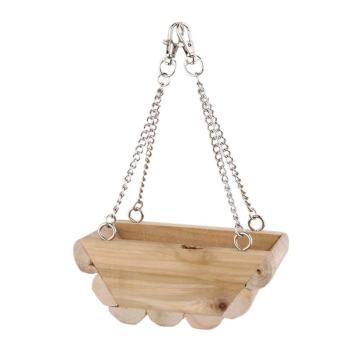 Hanging Boat Swing Mouse Parrot Bird Cat Hamster Bed Cage Toys