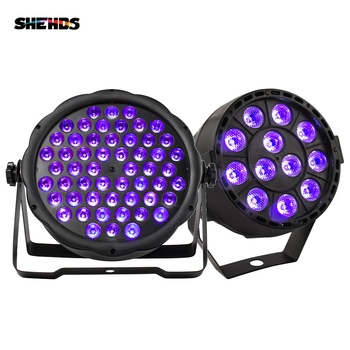 1PCS Led Par Light 54x3W DJ Par Ultraviolet Wash Disco Light 12x3W UV Mini Led Plastic Party Event Stage Effect Dance Home 1