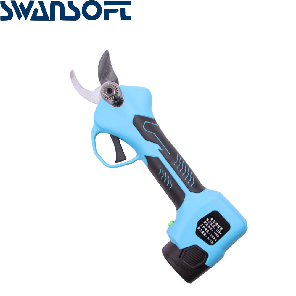 SWANSOFT 16 8V Cordless Rechargeable Electric Pruning Scissors Pruning Shears Garden Pruner
