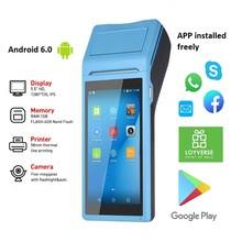Pos PDA Barcode Ccd-Scanner Thermal-Printer Handheld Android 1D with Built-In NFC Option