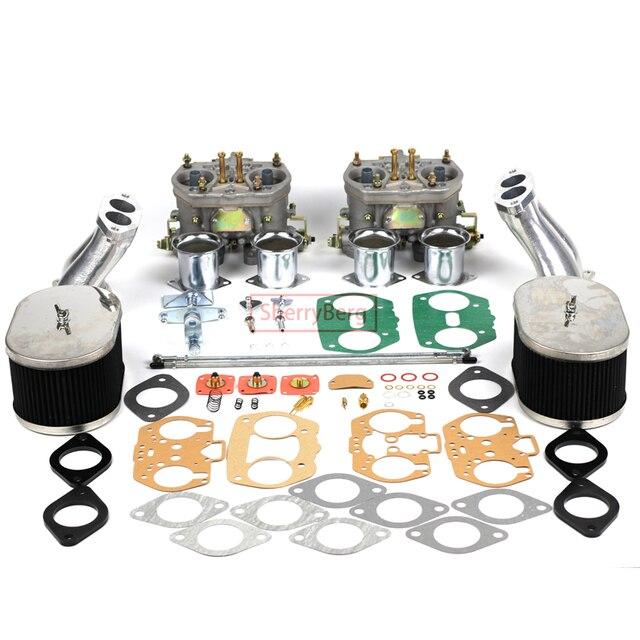 SherryBerg Carburettor CarbชุดสำหรับVW TYPE 1 FAJS HPMX WEBER IDF DUAL 40Mm CARBชุดT1สูงเชื่อมต่อคุณภาพดี40