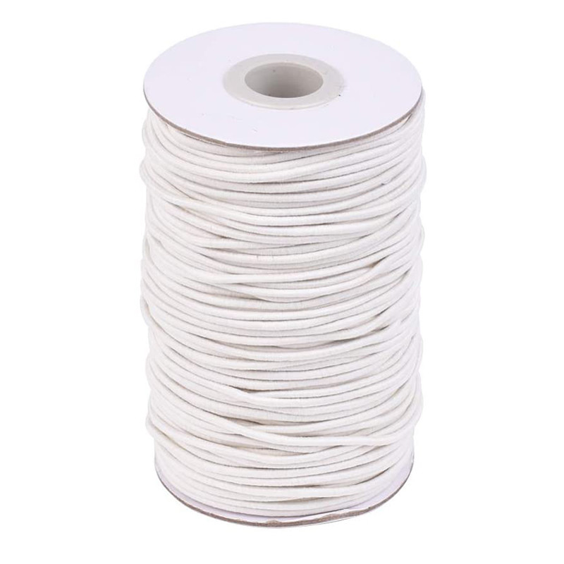 Круглая эластичная нить 2 мм волоконная наружная резиновая внутренняя