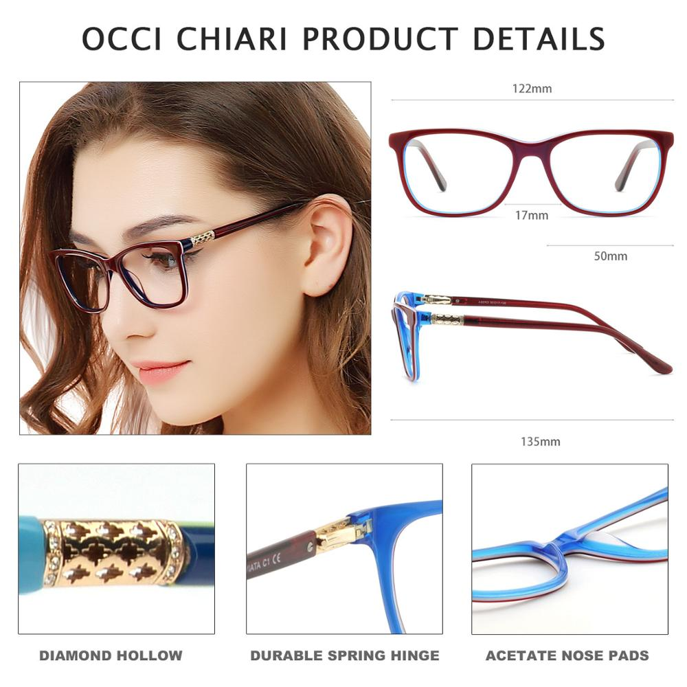 Image 4 - OCCI CHIARI Vintage Myopia Glasses Frames Women Anti Blue Ray Computer Eyewear Diamond Spring Hinge Optical Spectacles Frame-in Women's Eyewear Frames from Apparel Accessories