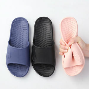Home Slippers Navy-Shoes Flip-Flops Bathroom Slides Woman Summer Simple Couples Indoor