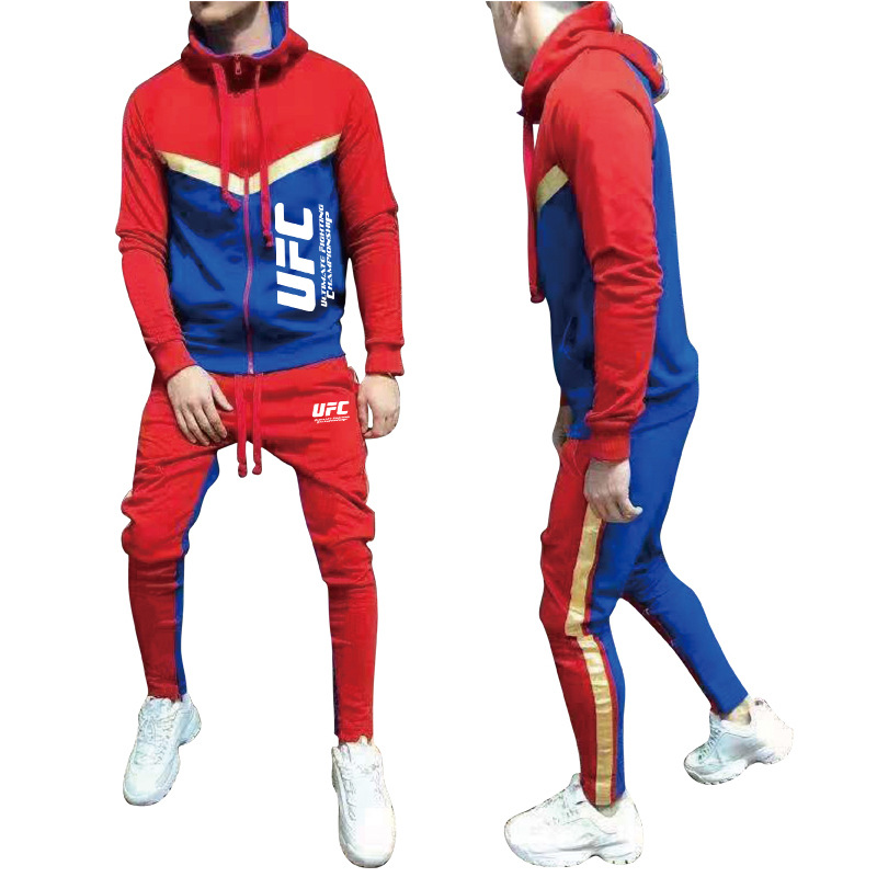 New Brand Tracksuit 2019 Fashion Hoodies For Men Sportswear Two-piece Sets Of Thick Hooded Wool + Pants Sports Suit For Men