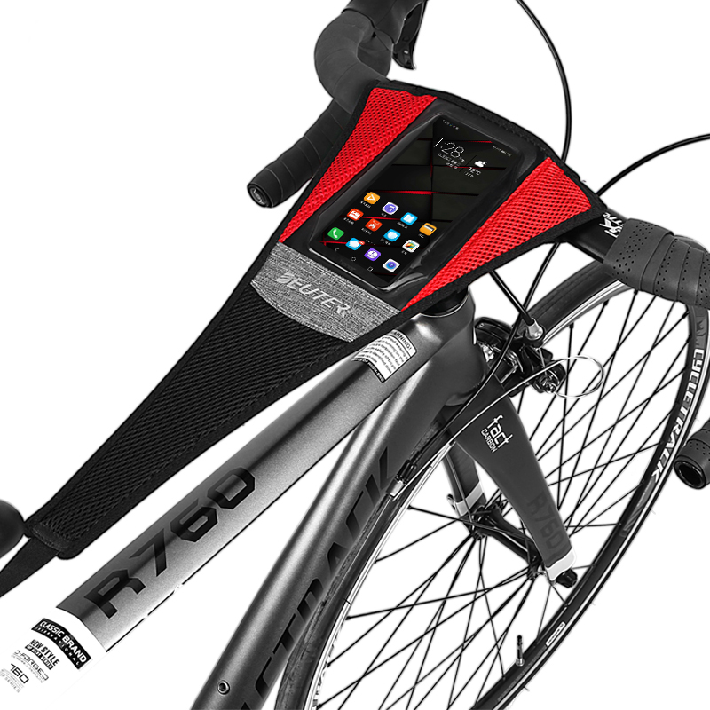 Indoor Bike Bicycle Trainer Sweat Cover  Sweatband Raining Frame Protector With Touch Screen Cell Phone Pocket