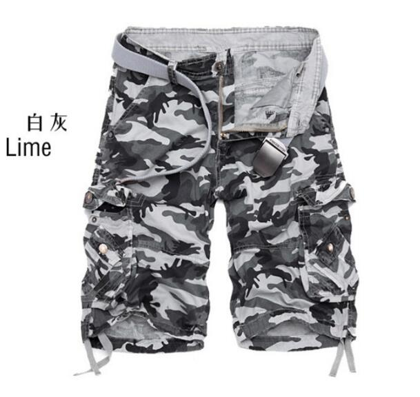 ZNG 2020  Trade Quick Sale Hot Style Casual Camouflage Pants Large Size Multi-pocket Men's Five-cent Trousers