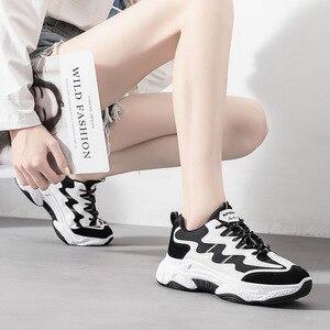 Image 2 - Zapatos de moda para mujer, nuevos zapatos de plataforma para otoño 2019, zapatos deportivos informales para mujer, zapatos transpirables de moda para mujer, tendencia salvaje, aumento