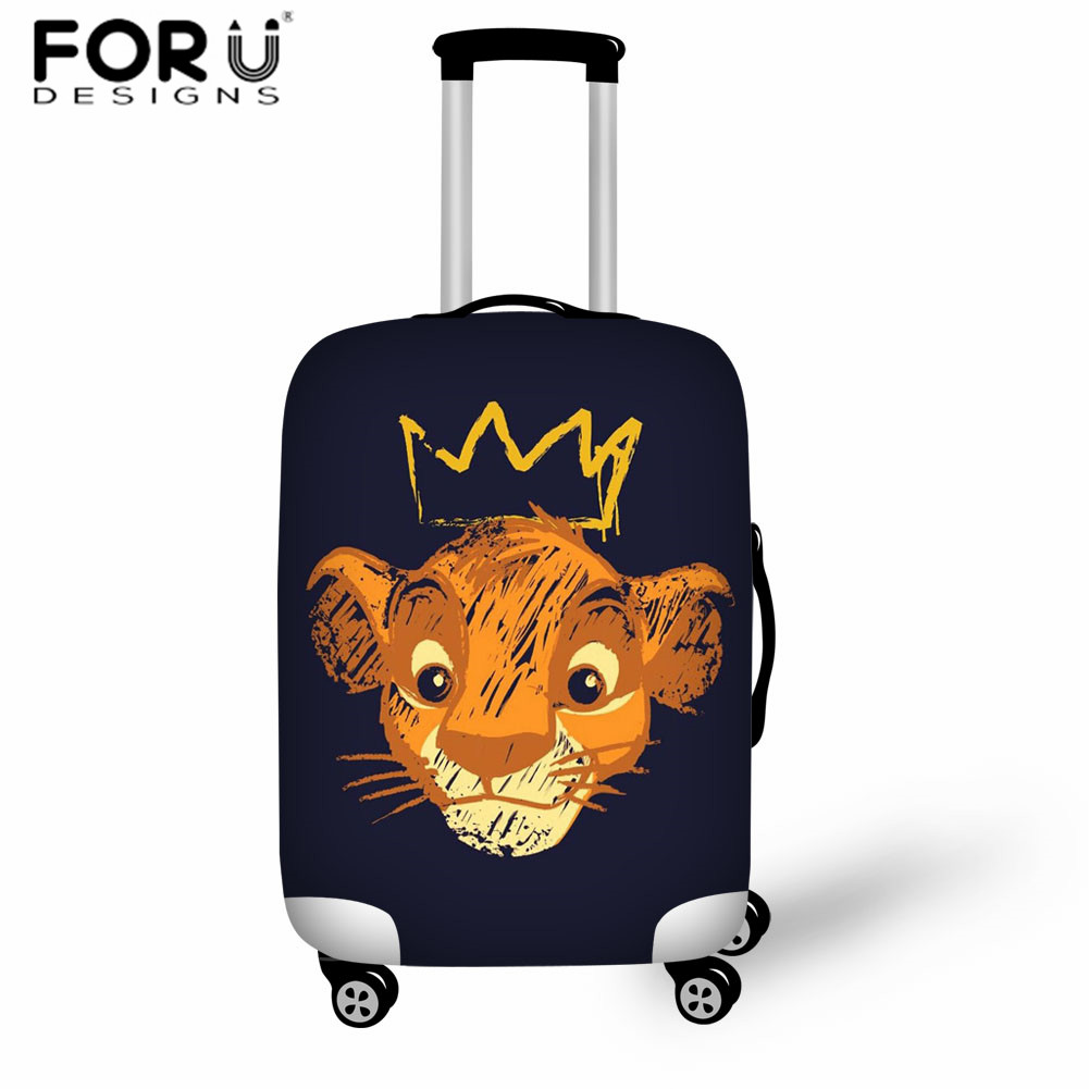 FORUDESIGNS Lion King Elastic Luggage Protective Cover For Trolley Cases Waterproof Covers Anime Kids Boys Travel Accessories