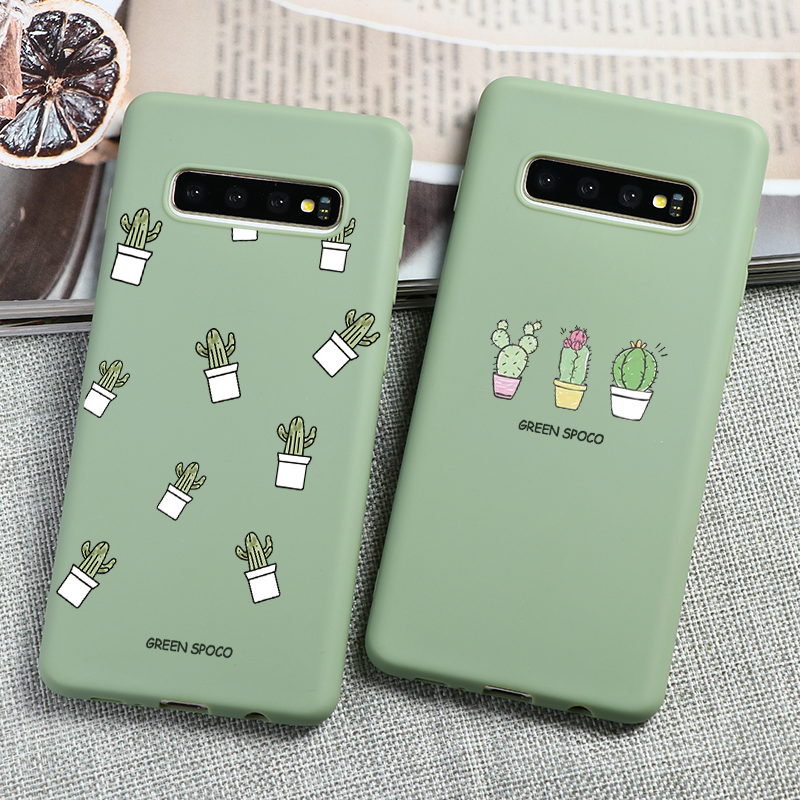 TPU Cactus Patterned Cover For Samsung Galaxy A70 A60 A50S A50 A40 A30S A30 A20S A20e A20 A10S A21s A31 A41 A51 A71 M40 M30 Case