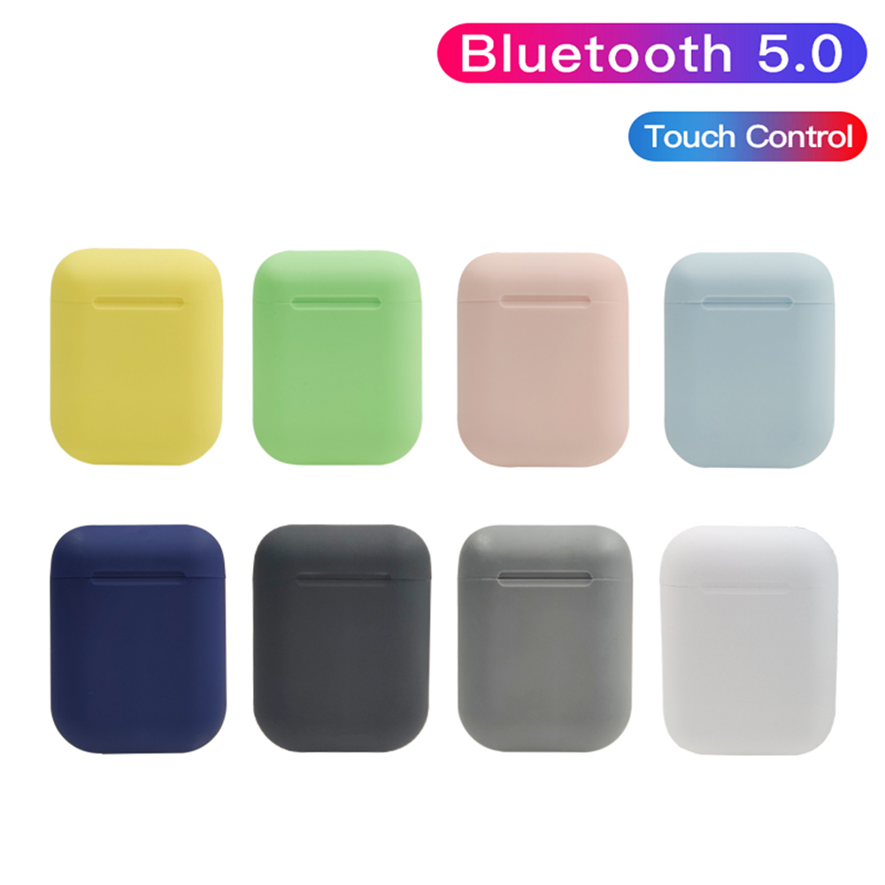 Original Macaron i12 TWS Wireless Earphone Bluetooth 5.0 Headphones 12 Touch True Stereo Android headset Sport Earbud for phone image
