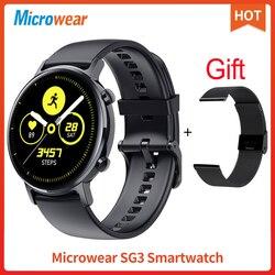 SG3 Смарт-часы Microwear smartwatch 390*390 HD AMOLED ECG IP68 кровяное давление фитнес-трекер для измерения сердечного ритма Спорт