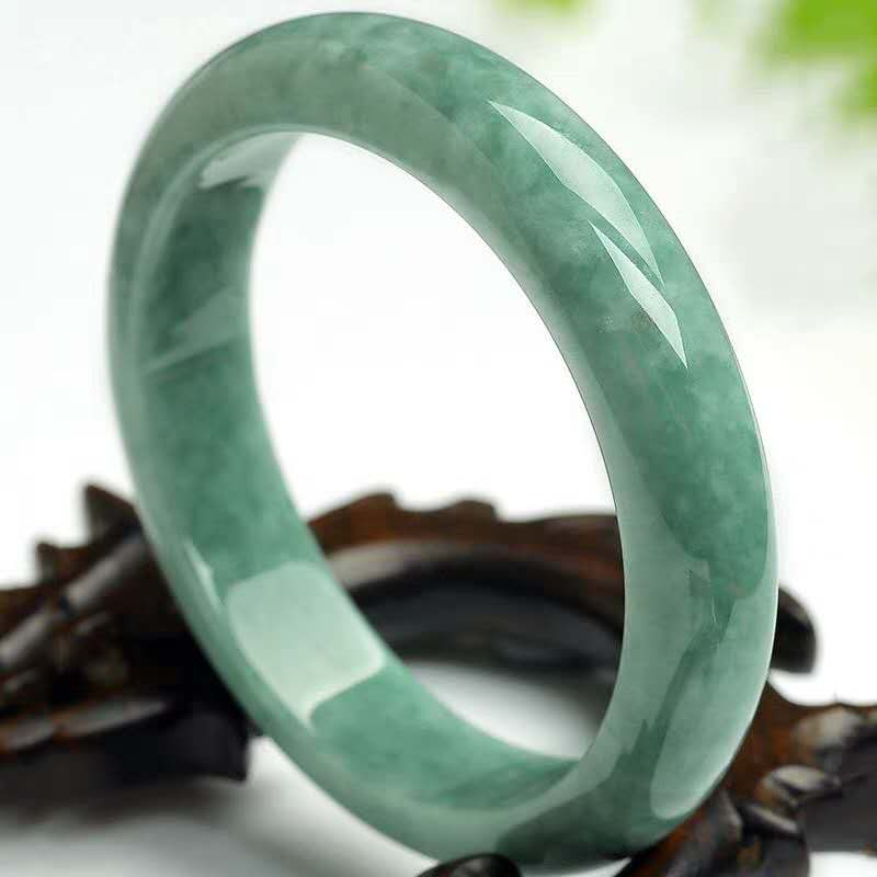 Natural Chinese Green Jade Bracelet Bangle 54-64mm Charm Jewellery Fashion Hand-Carved Lady Woman Girl Luck Amulet Gifts