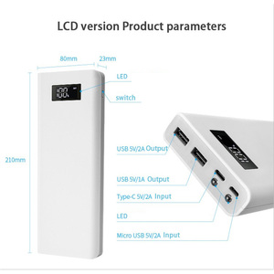 Image 2 - 5V 2A 2.1A 10*18650 mobilny powerbank zestawy DIY 3 USB Power Bank ładowarka moduł płytki drukowanej + 10S baterii Shell Case