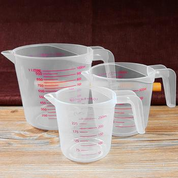 250/500/1000ml Double Scale Transparent Measuring Cup Kitchen Weighing Tool image