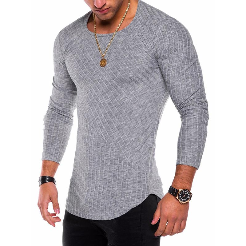 ZOGAA Men's Slim Fit Sweaters Spring Autumn Thin O-Neck Knitted Pullovers Men Casual Solid Sweaters Pull Homme Plus Size S-4XL