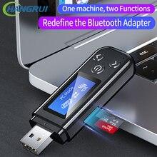 Odbiornik Bluetooth 5.0 nadajnik wyświetlacz LCD bezprzewodowy Adapter USB 3.5MM AUX Jack RCA odbiornik muzyki Audio dla komputer stancjonarny Car