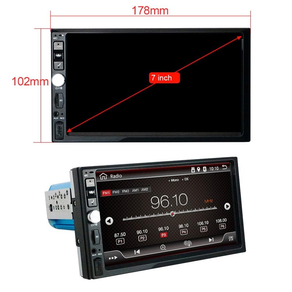 Eunavi 2 Din 7 ''Восьмиядерный Универсальный Android 9,0 4 Гб ram автомобильный Радио Стерео gps навигация WiFi 1024*600 сенсорный экран 2din без DVD