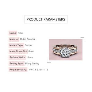 Image 5 - Rbnyd nova moda senhoras anel de cristal zircon europa e américa moda acessórios senhoras casamento noivado presente natal