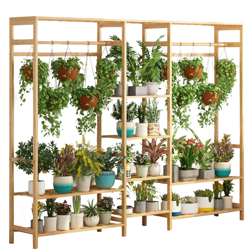 Landing Type Outdoor Indoor  Multi-storey Storage Balcony Chlorophytum Flowerpot