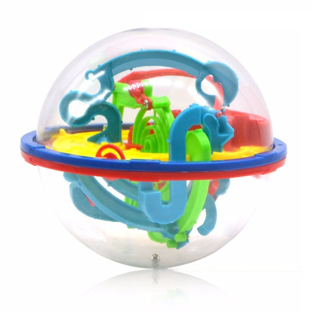 299 Steps 299 Step 3D Puzzle Ball Magic Intellect Ball Labyrinth Sphere Globe Toys Challenging Barriers Game Brain Tester Balance Training