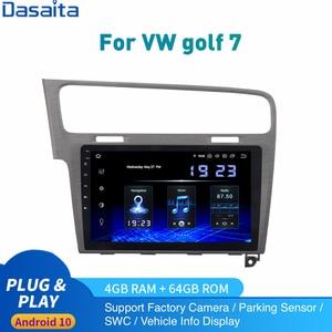 Android 10.0 Car Radio for VW Golf 7 Multimedia 2013 2014 to 2017 Golf7 Stereo Autoradio DSP Audio IPS Carplay HDMI 4Gb+64Gb(China)