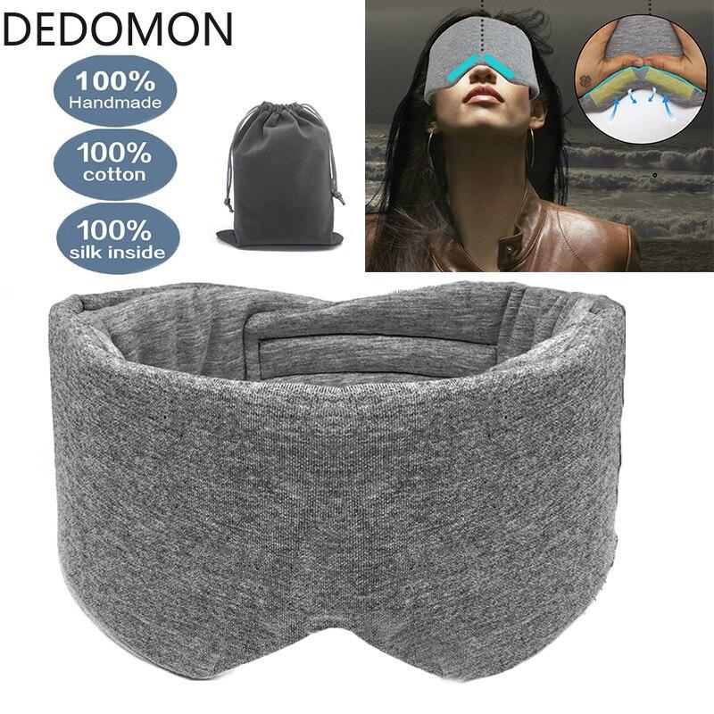 1 PC Sleeping Eye Mask Comfortable Breathable Adjustable Sleep Mask Eyeshade Blinder Blindfold Eye Patch Best Night Companion