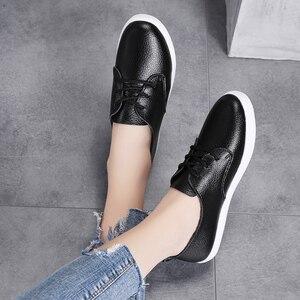 Image 4 - STQ סתיו נשים מוקסינים נעלי נשים אמיתי עור הנוודים נעלי ספורט נעליים להחליק על נשים חורף דירות הליכה נעלי 8833