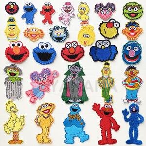 Все виды милых мультяшных кукол для младенцев, портрет с улыбающимся лицом, наклейки на одежду с вышивкой, одежда для творчества