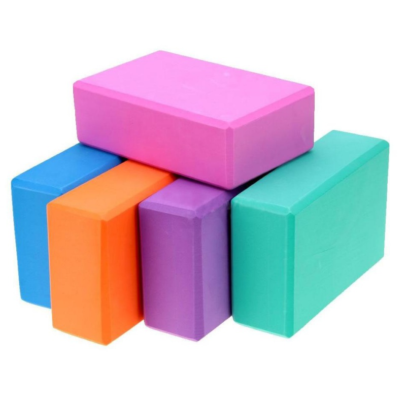 5 Colors Yoga Block Brick For Pilates Exercise Workout Fitness Training Gym Yoga EVA Foam Bolster