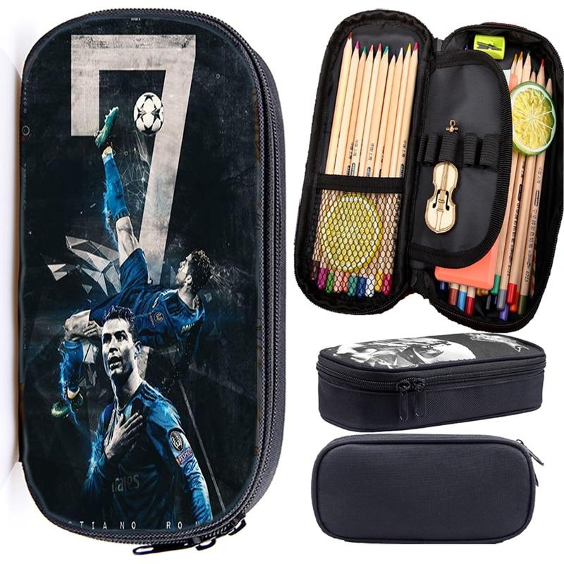 Cristiano Ronaldo CR7 Pencil Case Boys Girls Students Case Cute High Quality Pencil Holder Beautiful Stationery Bag