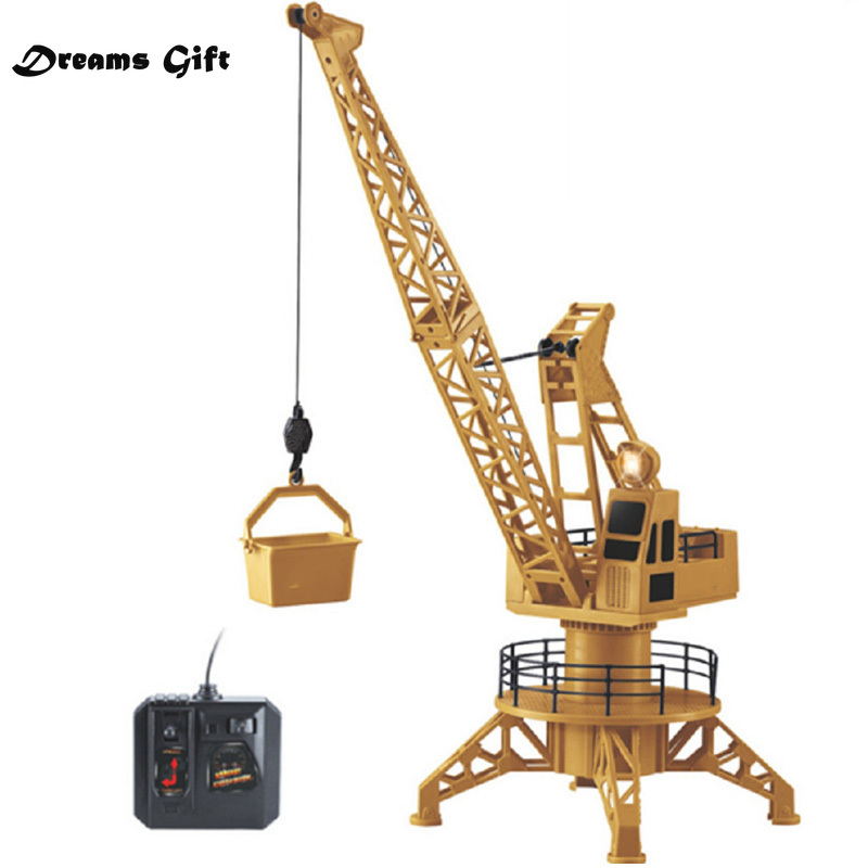 Electric Crane Remote Control Crane Engineering Vehicle Toy Tower Crane Remote Control Large Crane Tower Christmas Gifts