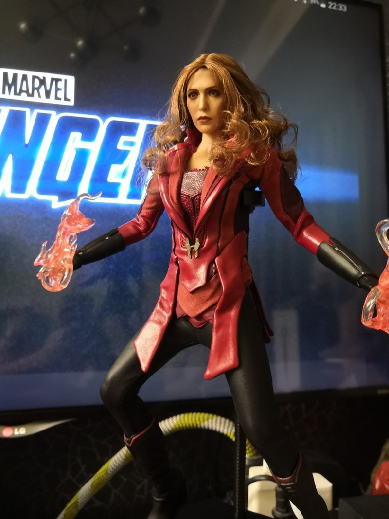 1:6 Figure Accessory Female Head Carving Scarlet Witch Wanda Head Red Eyes Ver.