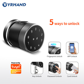 Electronic Smart Door Lock With Tuya App, Security Biometric Fingerprint Intelligent Lock With Password RFID card hotel intelligent lock systemtype pcb replacements prousbhotelcardsystem suitable most models keyless rfid card door locks wirel