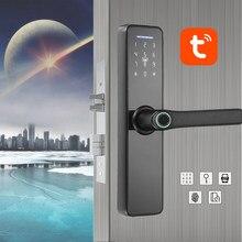 WAFU – serrure d'intérieur intelligente par empreinte digitale, wi-fi, Tuya, carte de mot de passe, pour porte de bureau, hôtel/maison, gestion intelligente des propriétaires
